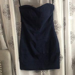 Bandage strapless navy blue dress size medium